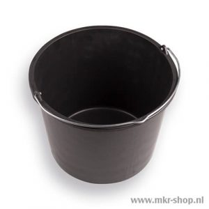 Bouwemmer 20 liter zwart